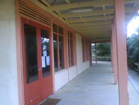 Rear veranda of Mudbrick Pavilion
